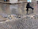 Знищений центр міста Дрогобича